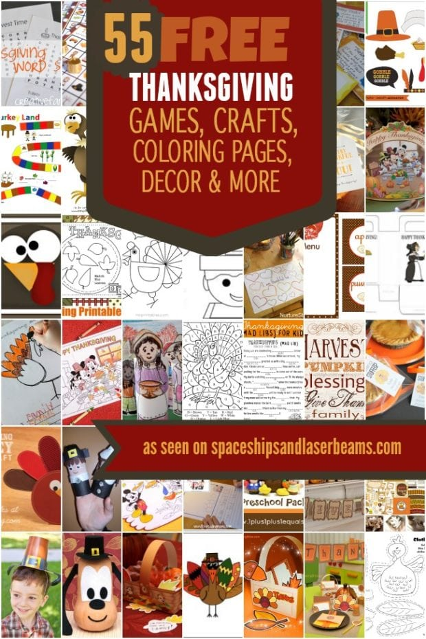 Free thanksgiving games crafts coloring pages decor