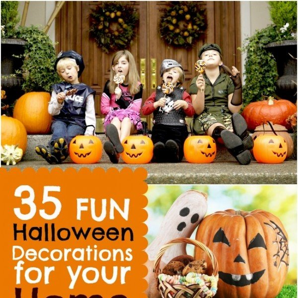 35 fun halloween decorations for your home spaceships for Cool halloween decorations to make at home