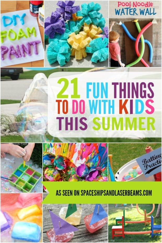21 fun things to do with kids this summer spaceships and for Cool things to make and do