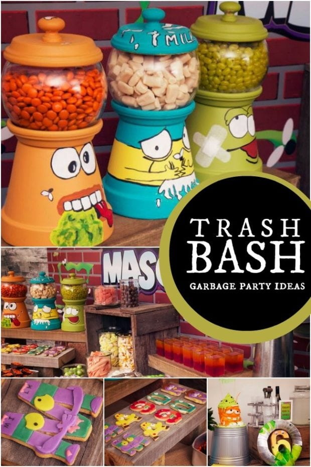 Trash Pack Inspired Boy S Birthday Party Spaceships And