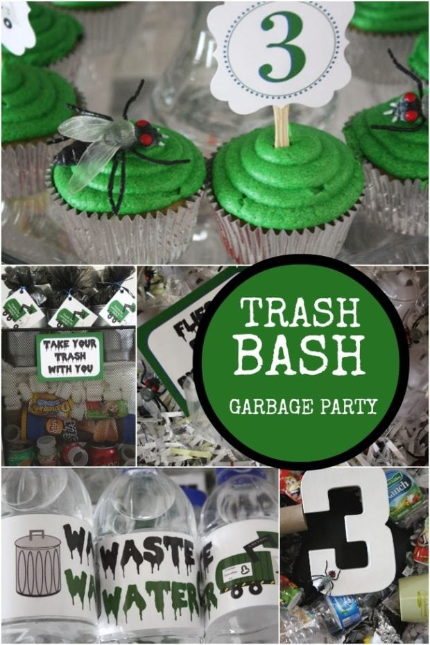 Trash Bash Garbage Themed Birthday Party Spaceships And