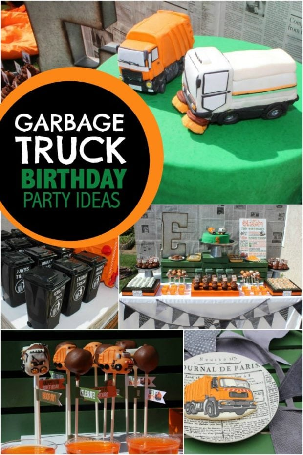 Garbage Truck Birthday Party Ideas