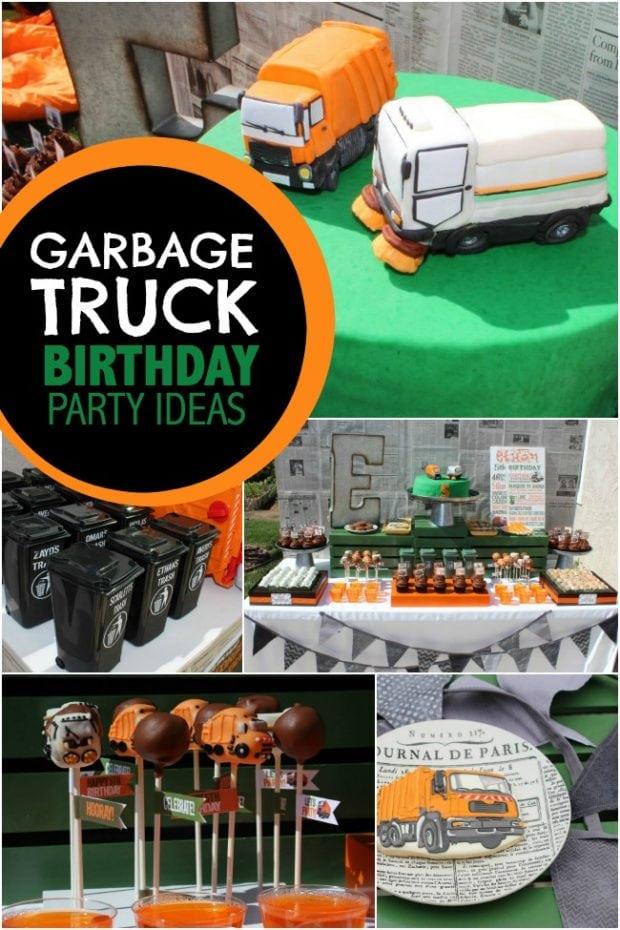 Garbage Truck Birthday Party Ideas