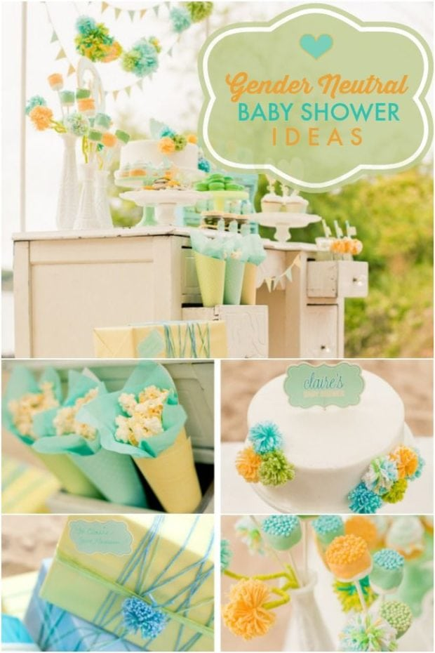 A Stunning Gender Neutral Baby Shower Spaceships And
