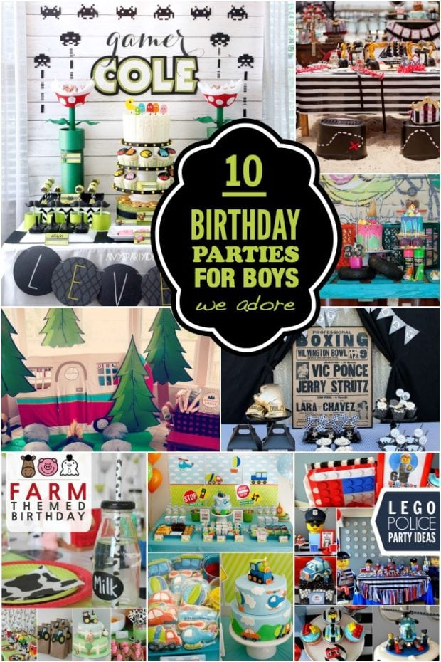 10 Gorgeous Birthday Parties For Boys Spaceships And