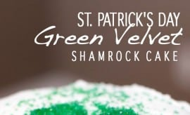 Green Velvet Cake For St Patricks Day