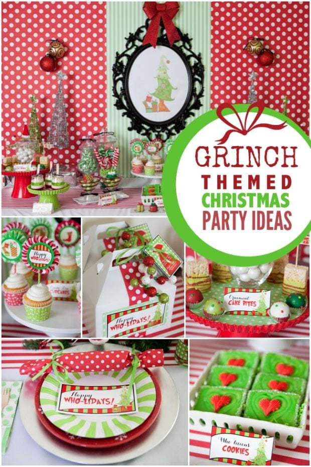 A grinch inspired christmas party spaceships and laser beams for Xmas theme ideas