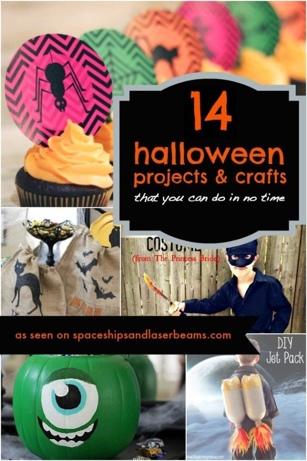 14 easy diy halloween projects crafts ideas homemade do it yourself spaceships and laser beams - Diy Halloween Projects