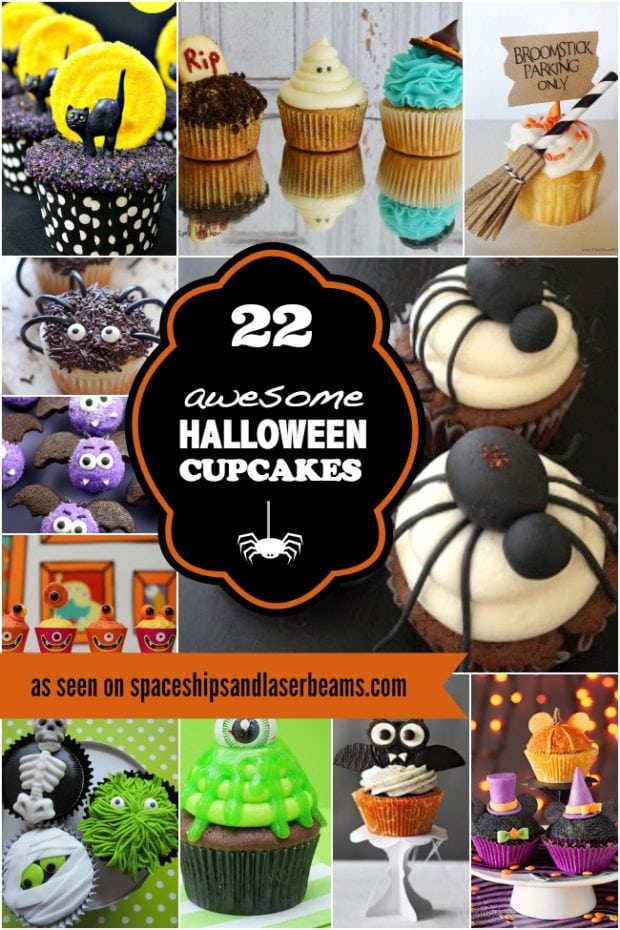 22 amazing halloween cupcakes spaceships and laser beams - Decorate Halloween Cupcakes