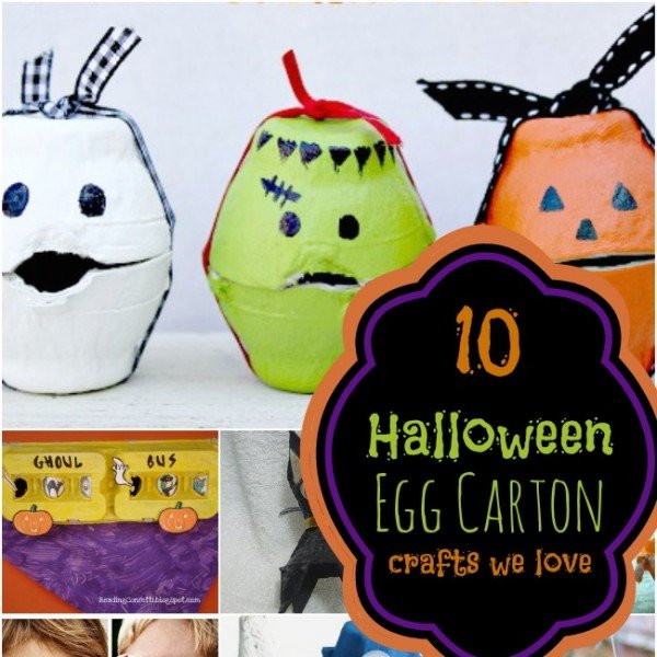 10 Halloween Egg Carton Crafts For Kids Spaceships And