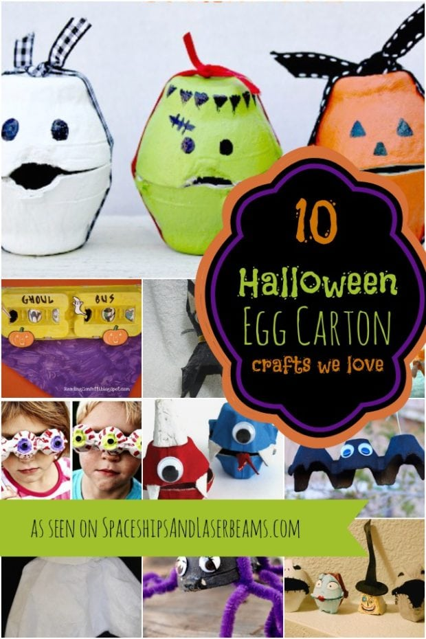 10 halloween egg carton crafts for kids spaceships and laser beams - Halloween Cartons