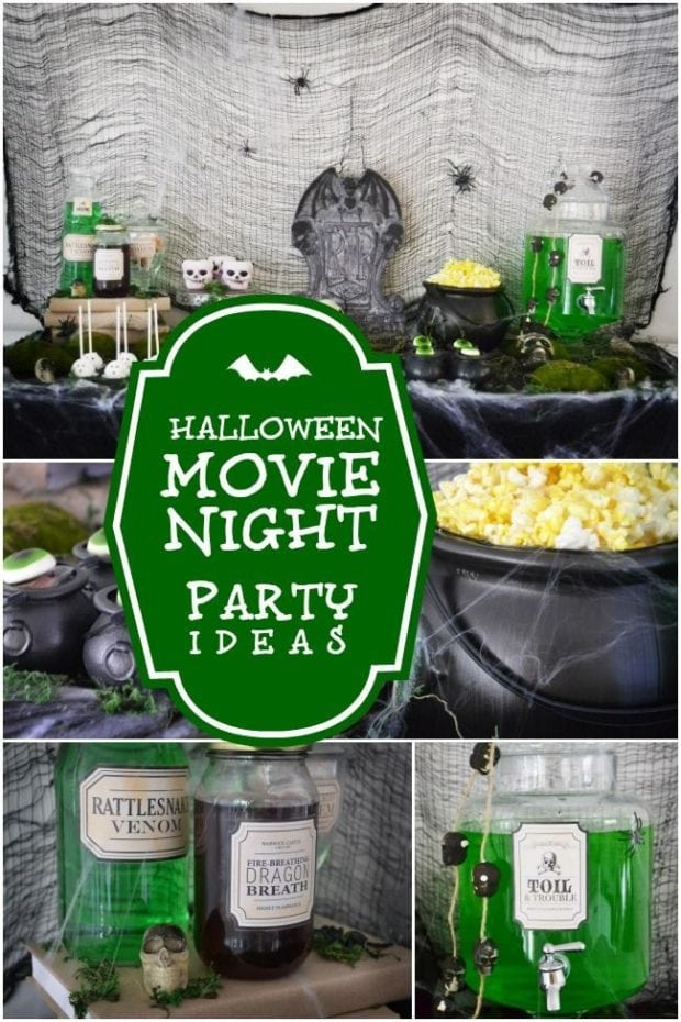 Halloween Movie Night Party Ideas