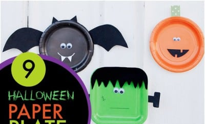 9 Paper Plate Halloween Crafts For Kids
