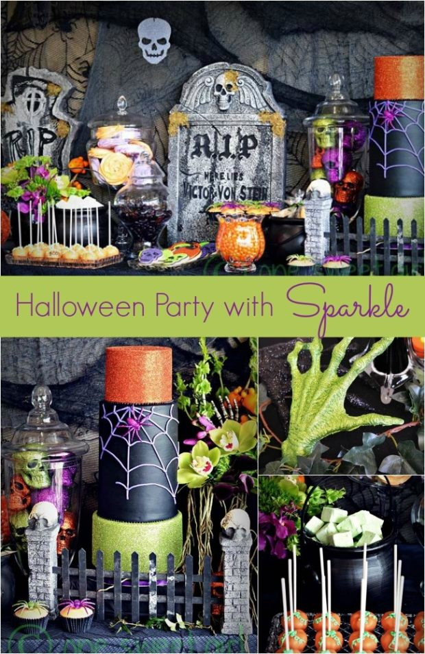 Halloween Party Decorations With Sparkle Spaceships And