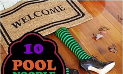 10 pool noodle hacks for halloween spaceships and laser - Halloween swimming pool decorations ...