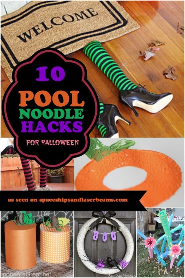 10 Pool Noodle Hacks For Halloween Spaceships And Laser
