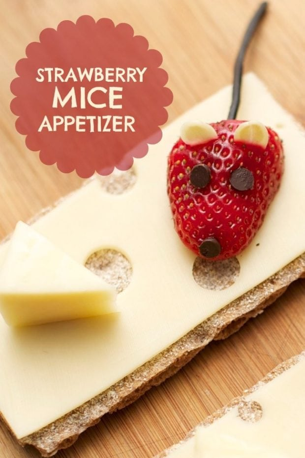 Easy Kid S Party Food Strawberry Mice Appetizer