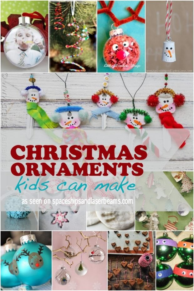 Homemade Christmas Ornament Crafts Kids Can Make
