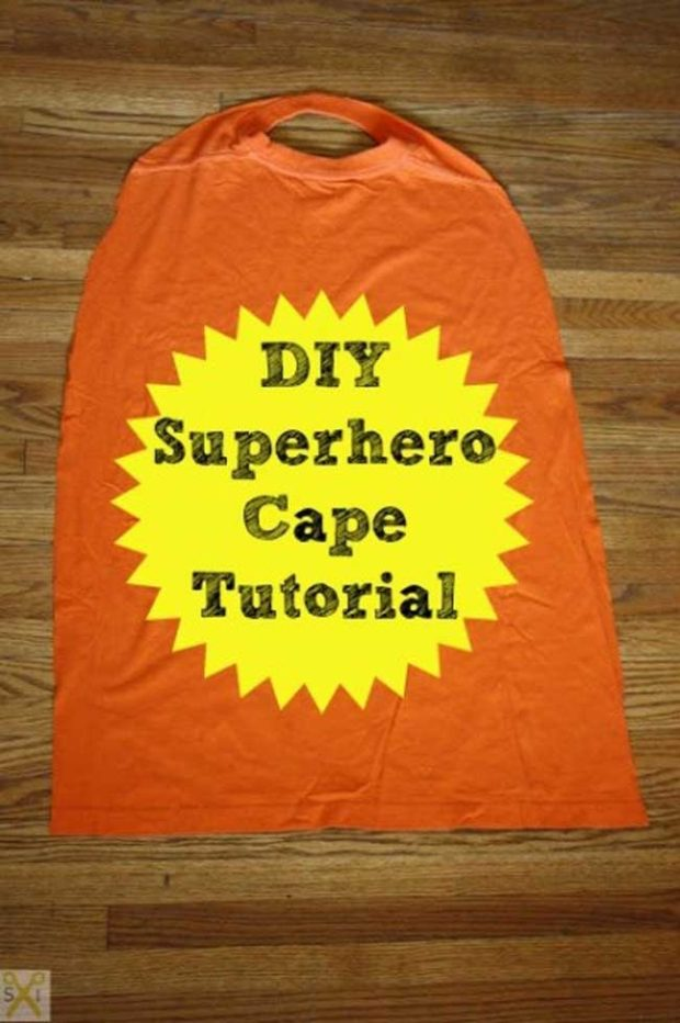 How to make superhero cape from a t shirt spaceships and for Diy superhero cape template