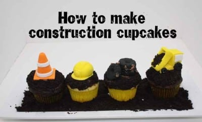 How To Make Construction Party Cupcakes