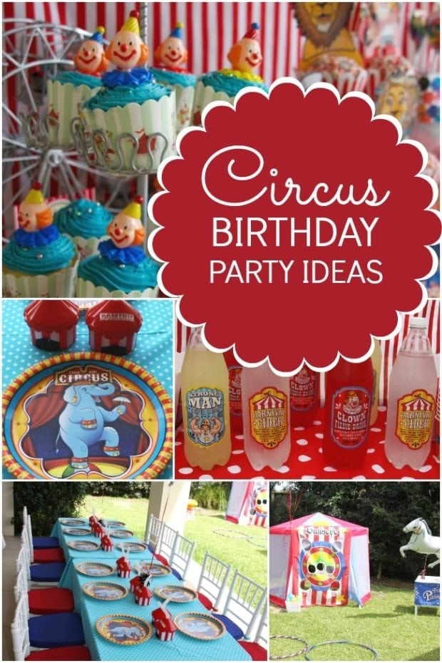Step Right Up Boy S Circus Themed Birthday Party
