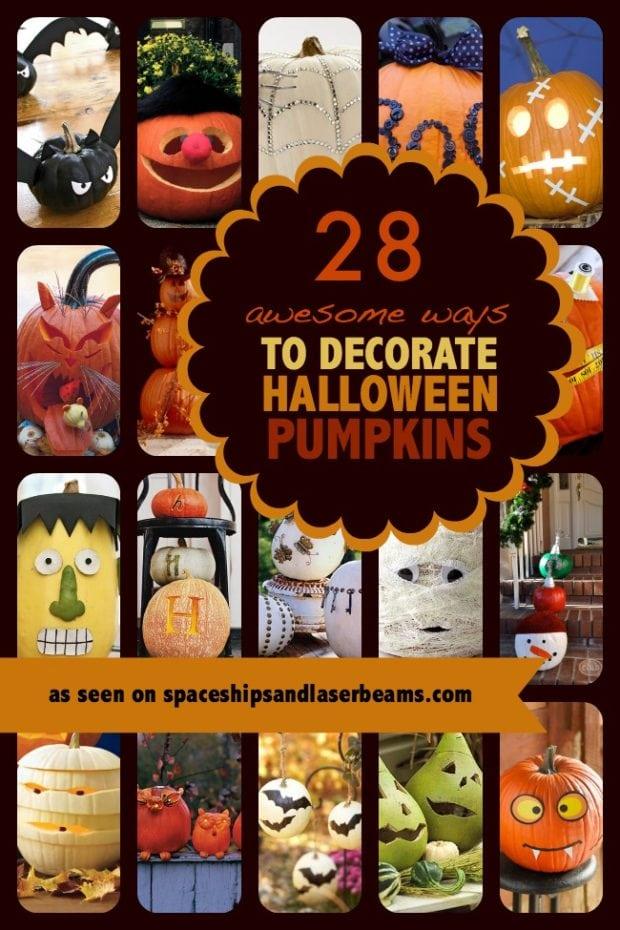 28 of the best pumpkin decorating ideas spaceships and laser beams - Breathtaking image of kid halloween decoration using frankestein jack o lantern pumpkin carving ...