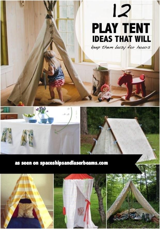 Kid\'s Party Activities: 12 Kid\'s Play Tents {Indoor & Outdoor ...