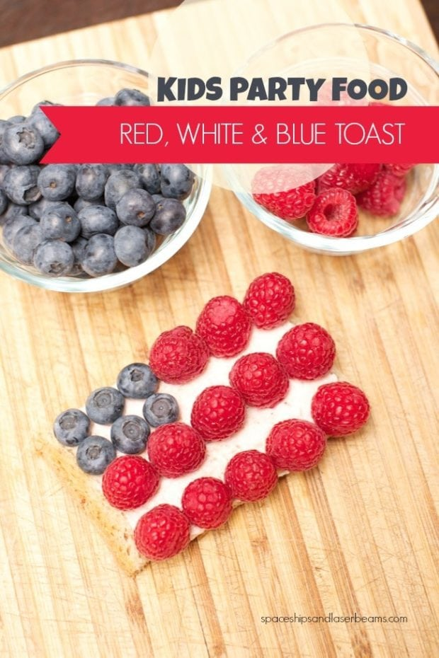 Kids Party Food Red White Amp Blue 4th Of July Toast