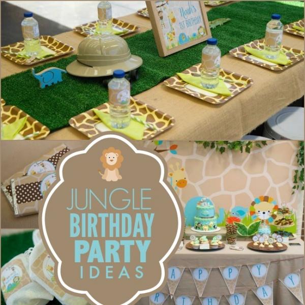 A Little Boy's First Jungle Safari Birthday Party