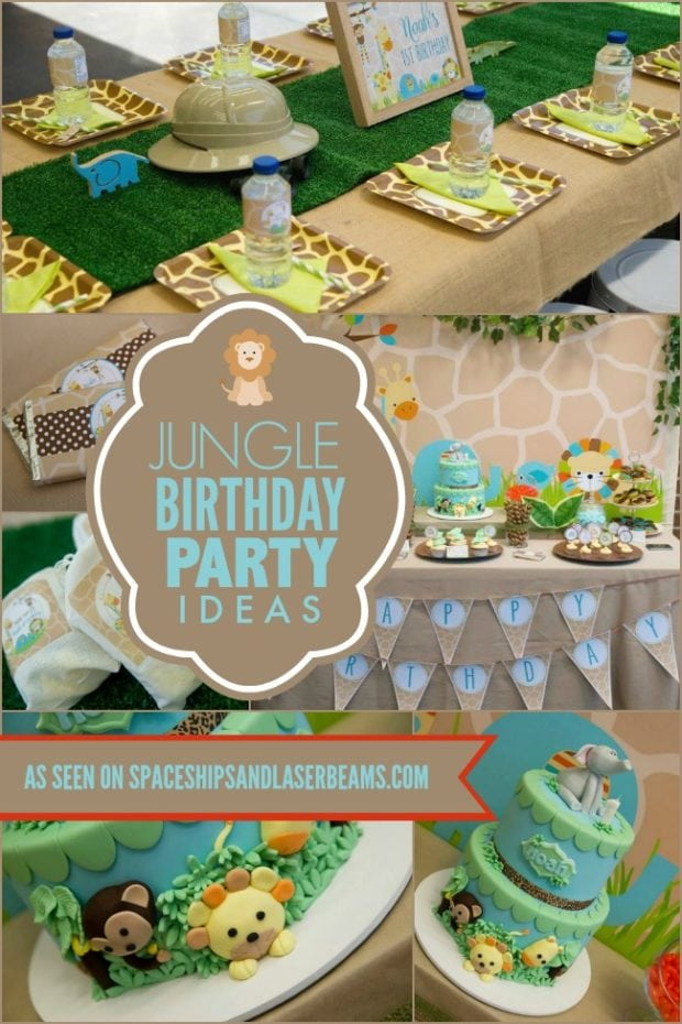 A Little Boy S First Jungle Safari Birthday Party