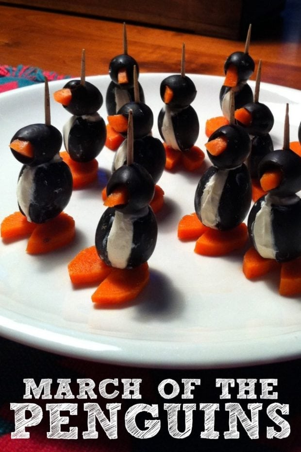 Kid S Party Food March Of The Penguins Spaceships And
