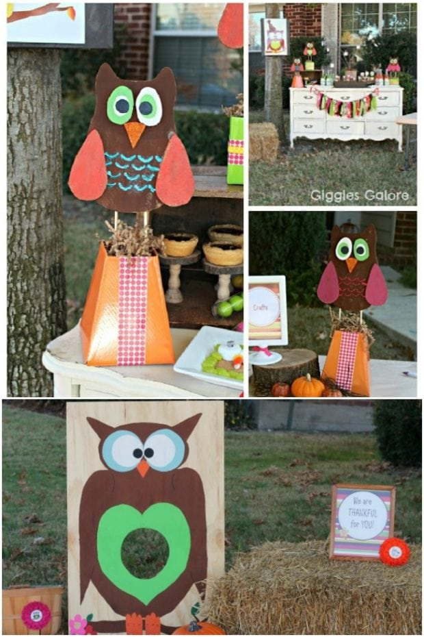 A Whoo S Thankful Owl Themed Thanksgiving Party
