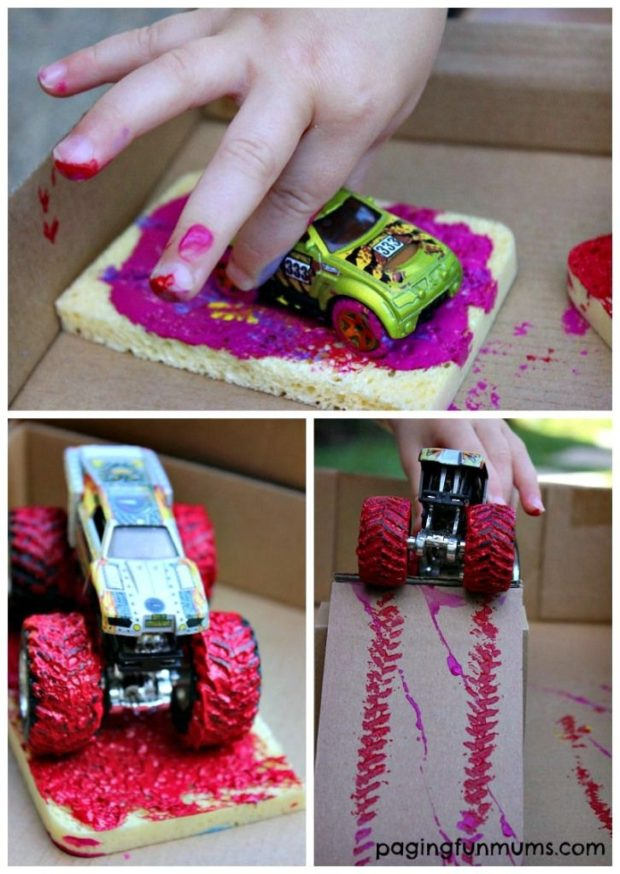 Kids Truck Painting Spaceships And Laser Beams