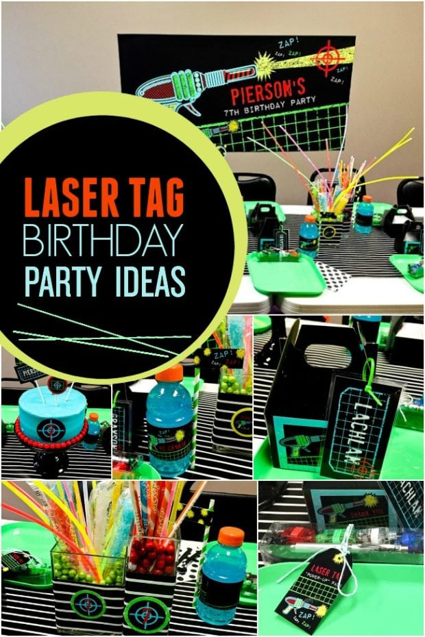 A Boy S Laser Tag Birthday Party Spaceships And Laser Beams