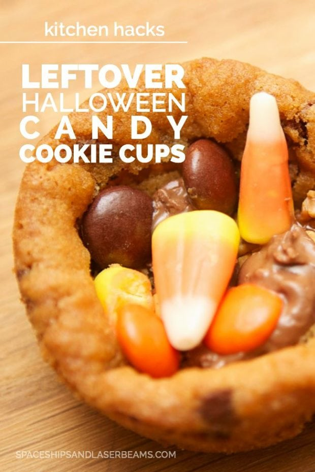 Halloween Candy Cookie Cups