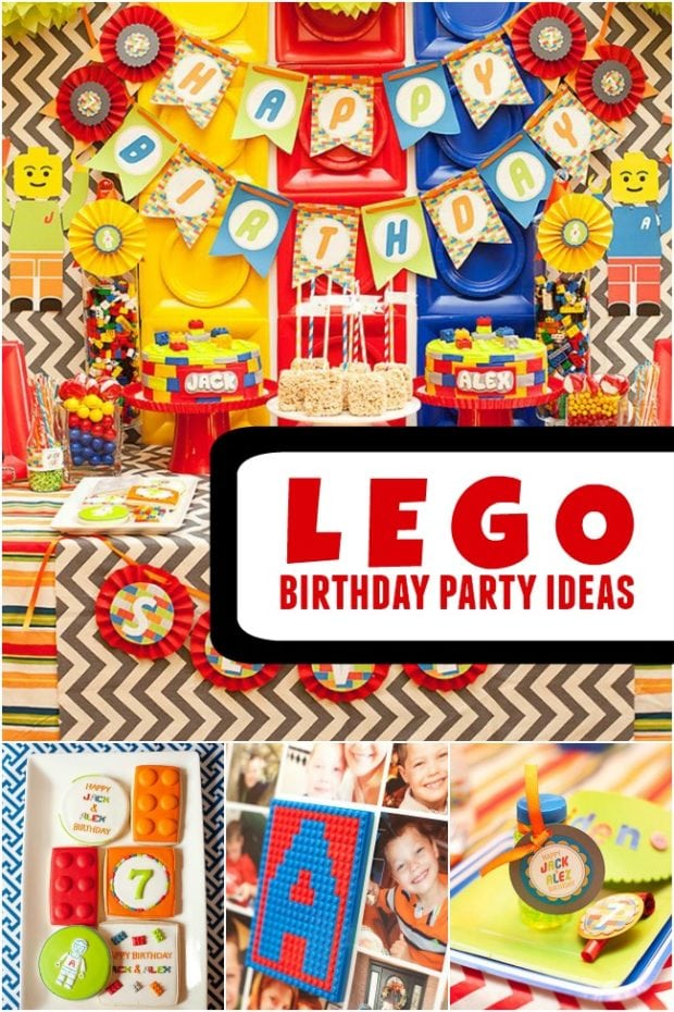 A Bright And Colorful Boys Lego Birthday Party