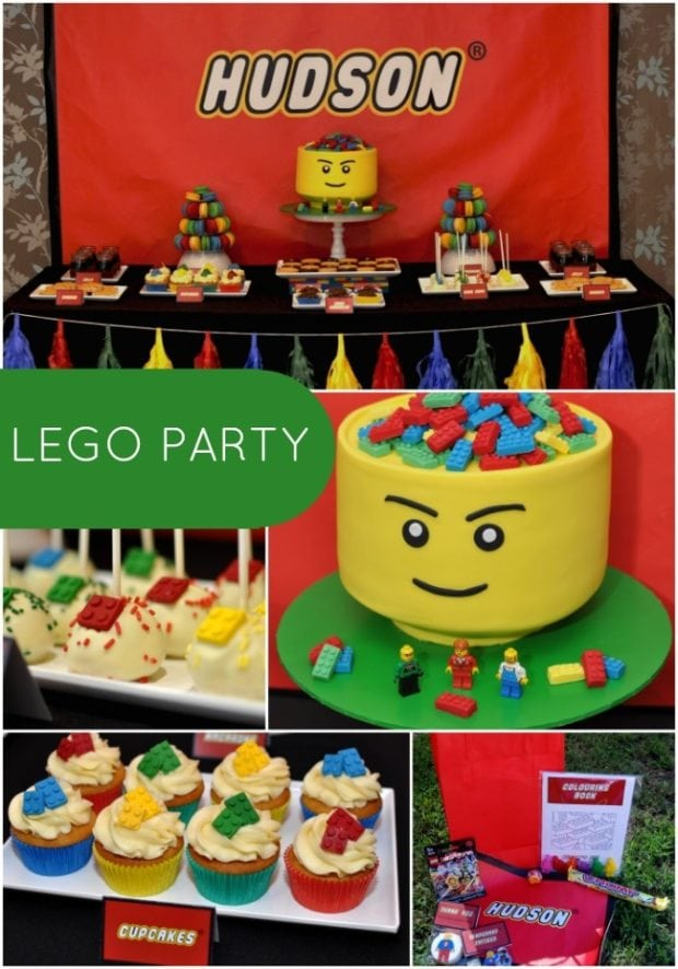 Boy 39 s lego themed 5th birthday party spaceships and for 5th birthday decoration ideas