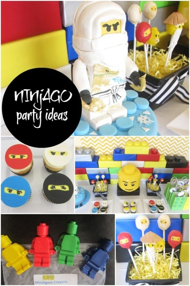 Lego Ninjago Birthday Party Ideas for boys from Spaceships and Laser Beams