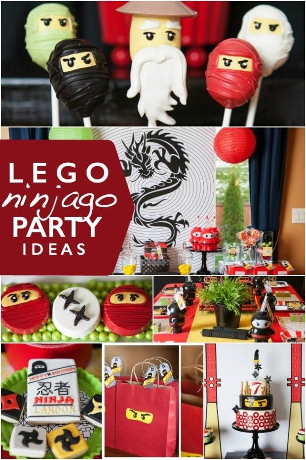 A Lego Ninjago Birthday Party Spaceships And Laser Beams