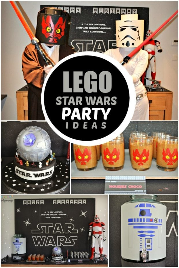 A Boy S Lego Star Wars 6th Birthday Party Spaceships And