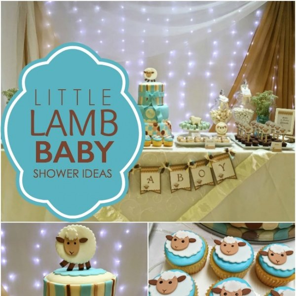 little lamb boy baby shower spaceships and laser beams
