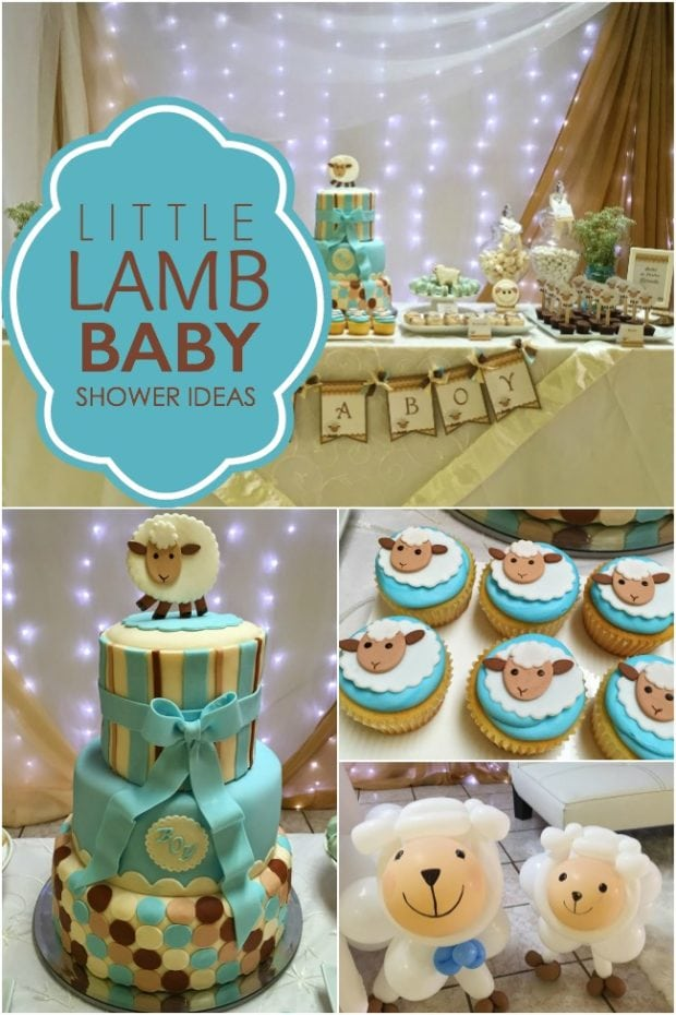 A little lamb boy baby shower spaceships and laser beams - Deco baby boy ...