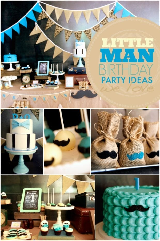 A Little Gentleman First Birthday Party | Spaceships and ...