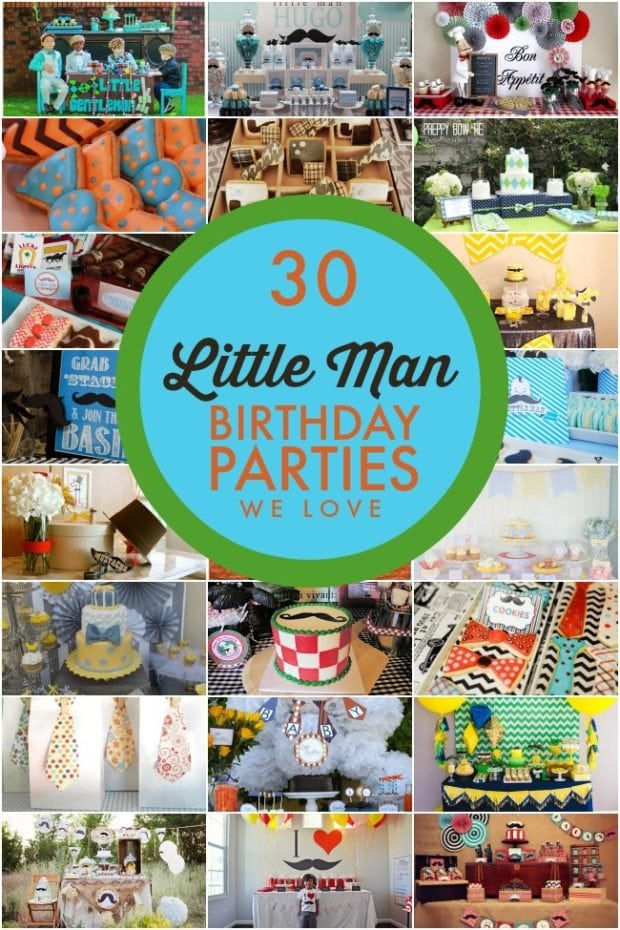 30 Little Man birthday parties that Spaceships and Laser Beams loves.