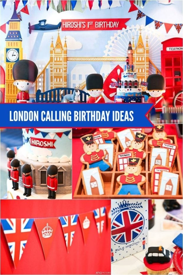 London-Themed Boy's First Birthday Party | Spaceships and ...