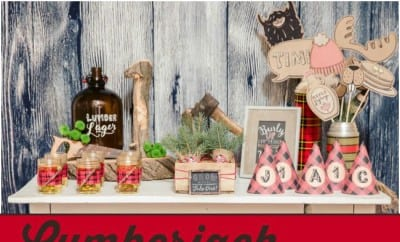 Lumberjack First Birthday Party Ideas