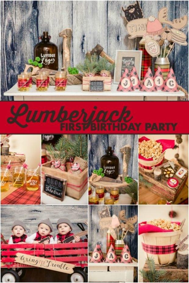 Lumberjack First Birthday Party Ideas