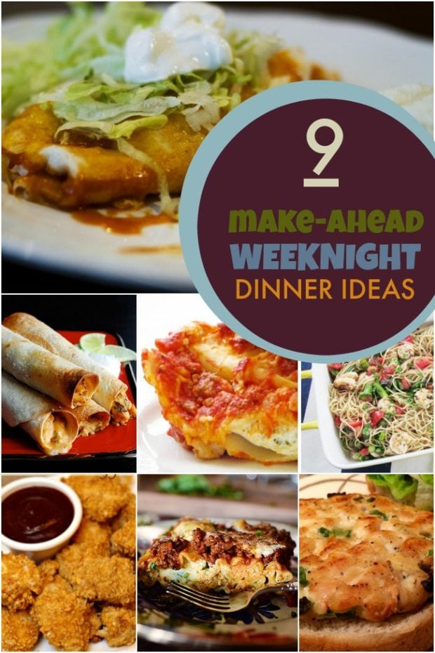Make Ahead Dinner Recipes