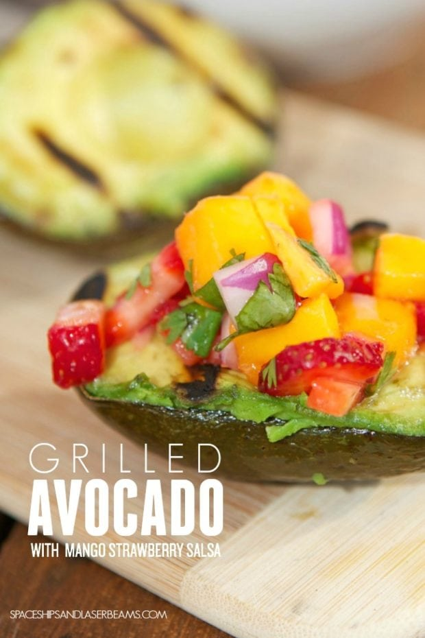 Mango Salsa Grilled Avocado