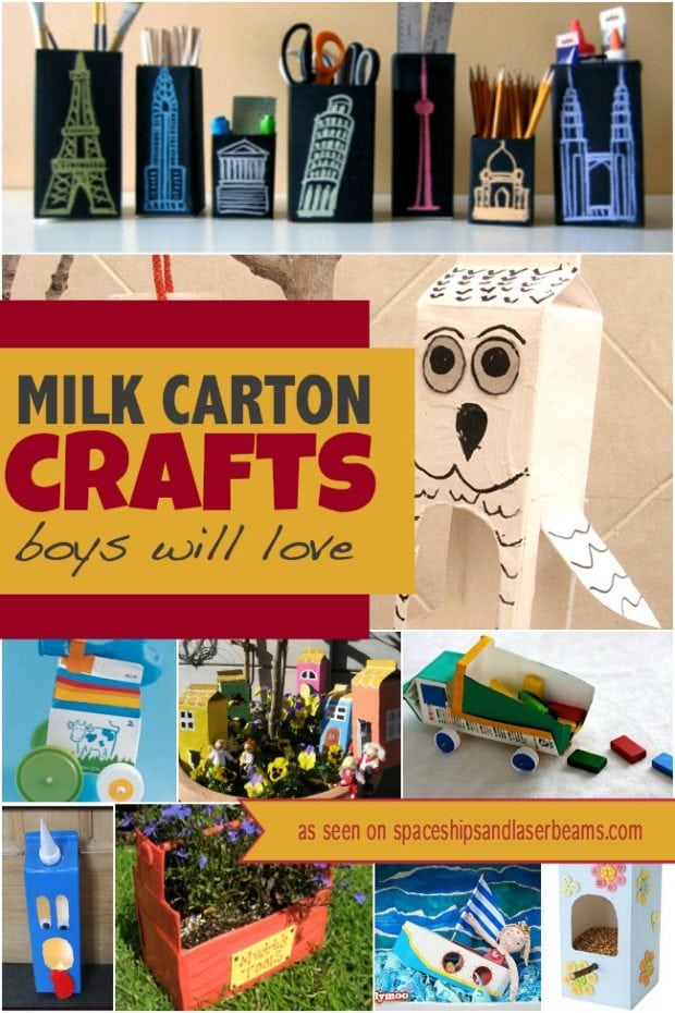 Carton House: 10 Milk Carton Crafts Boys Will Love